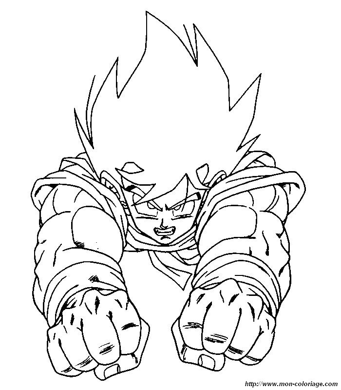 Coloriage de Manga Dragon Ball Z, dessin dragon ball z 09 à colorier