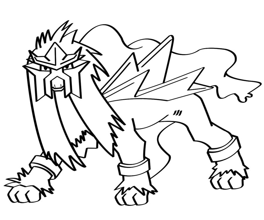 Pokemon Entei AZ Coloriage