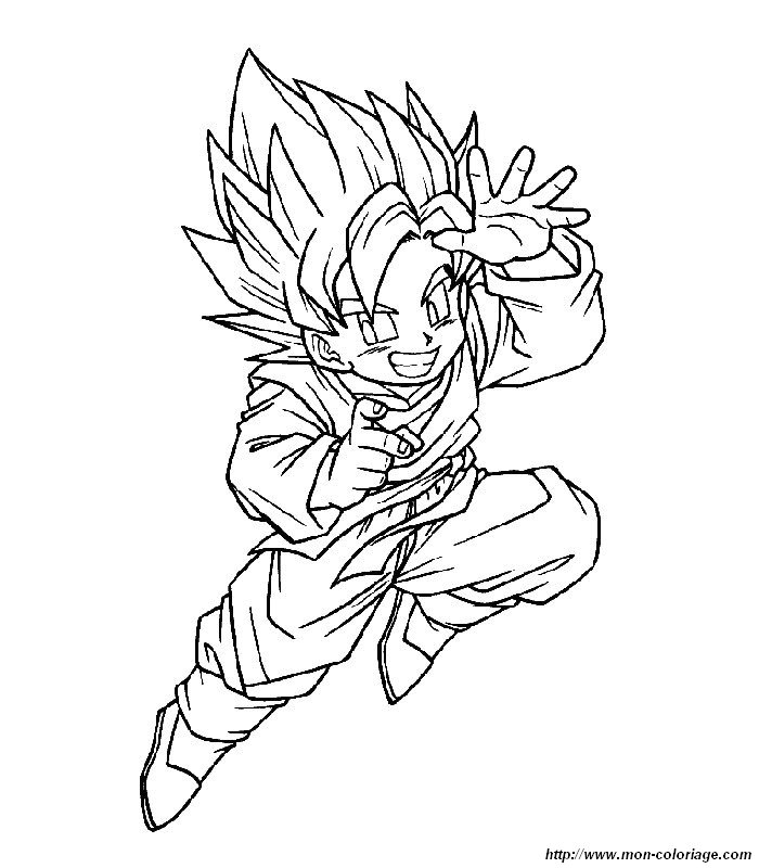 Goten Coloring Pages Crokky Coloring Pages
