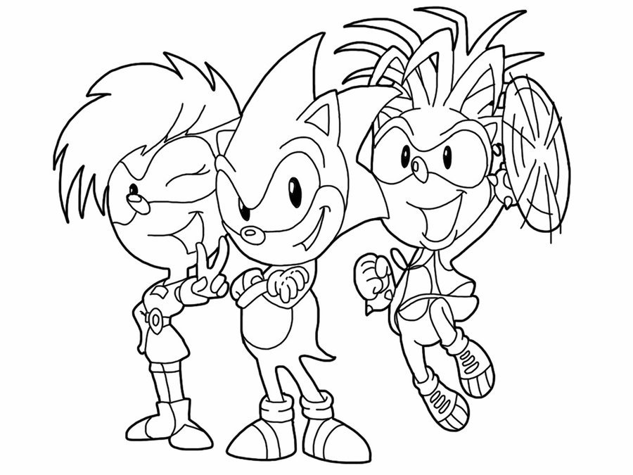sonic x the Brda Colouring Pages