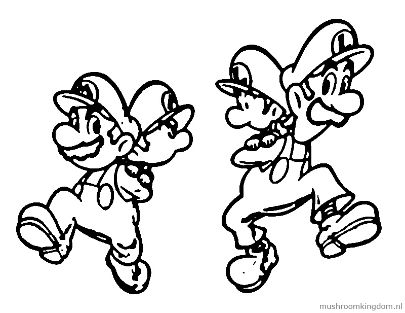 Luigi And Mario Coloring Pages - Coloring For KidsColoring For Kids