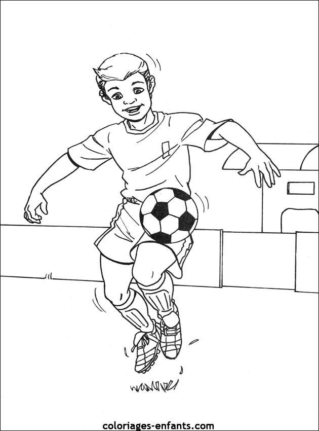 Coloriages Football Az Coloriage