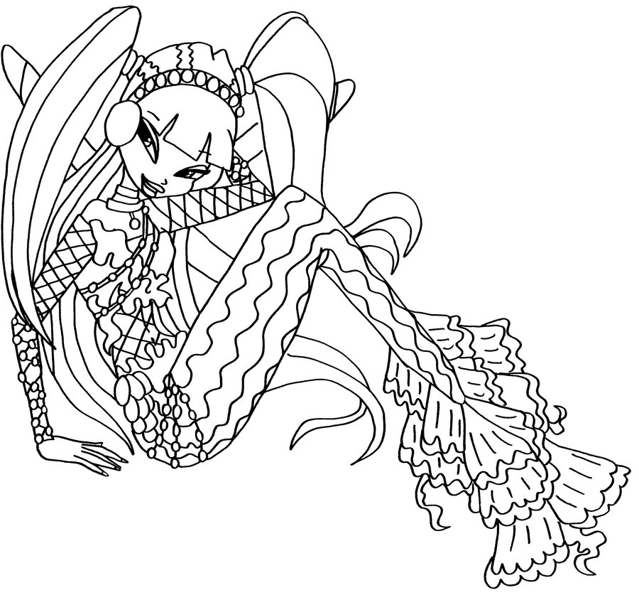 layla mermaid Coloriage
