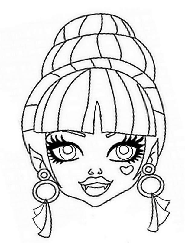 masque monster high Coloriage