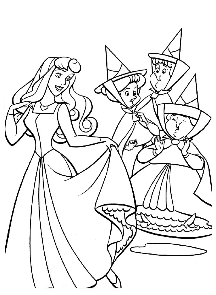 Coloriage fee princesse
