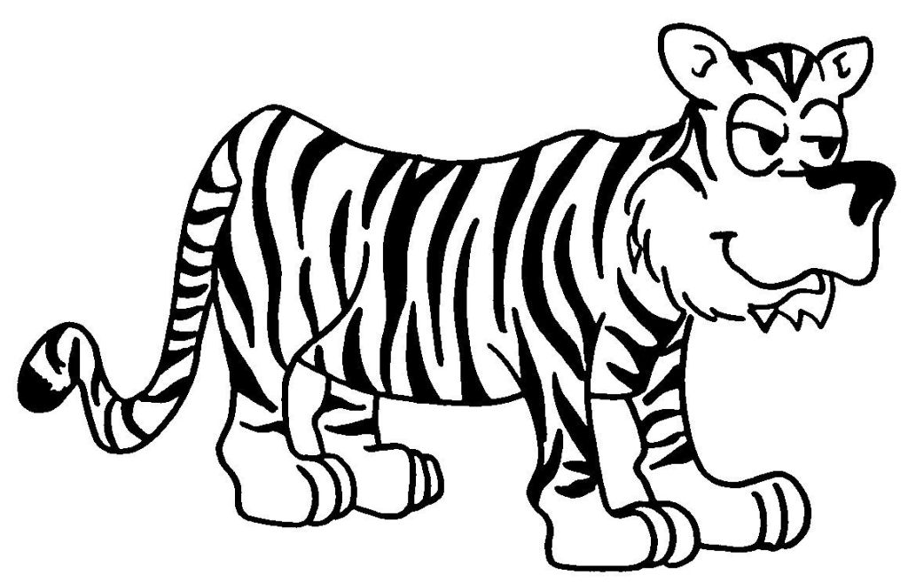 Dessin-coloriage animal : tigre - Education environnement, nature