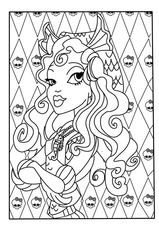 monster high catty noir Coloriage