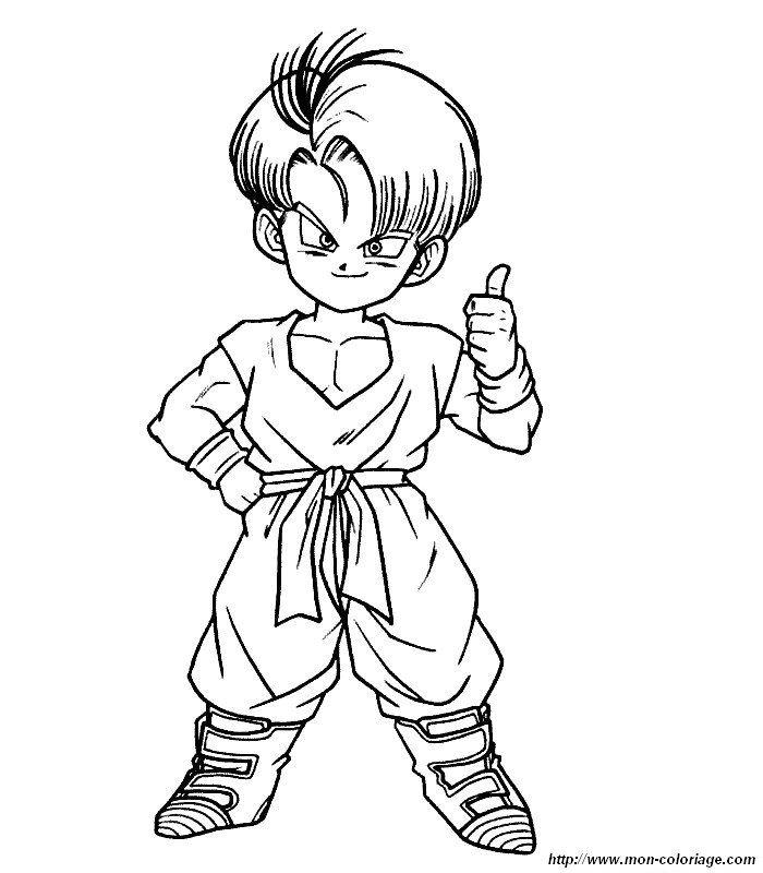 dragon ball z af coloriage