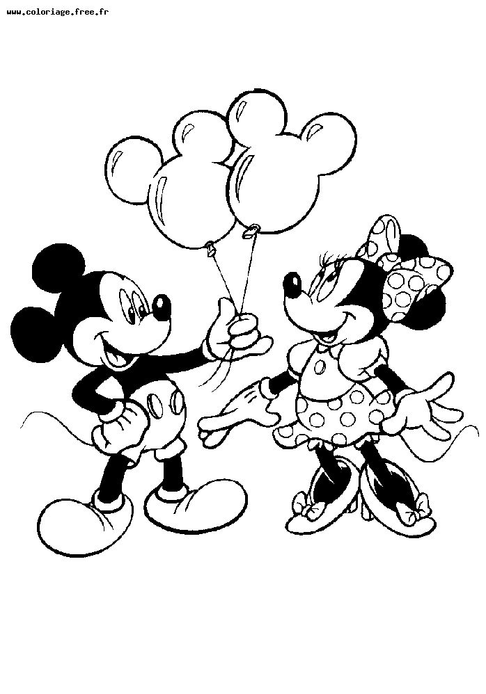 mickey pluto Coloriage