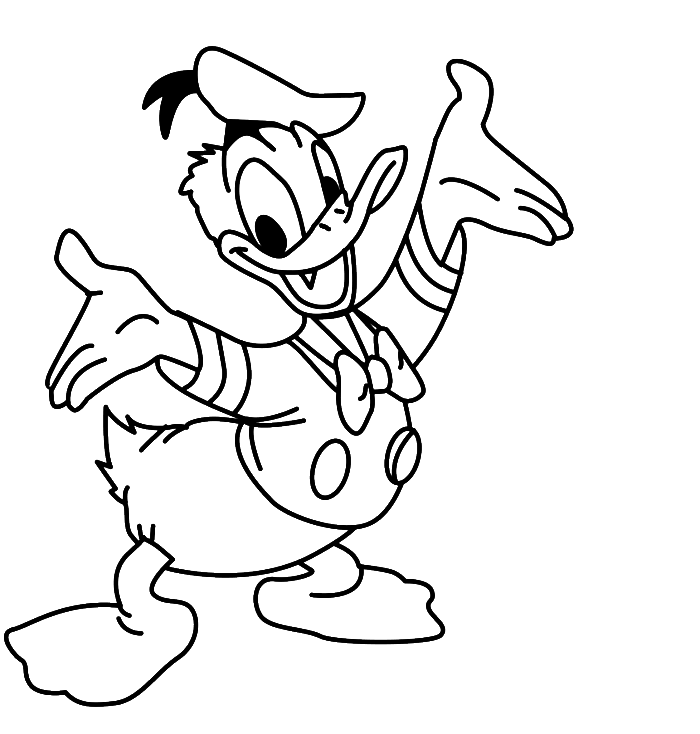 Donald Duck Coloring Pages 115 97420 High Definition