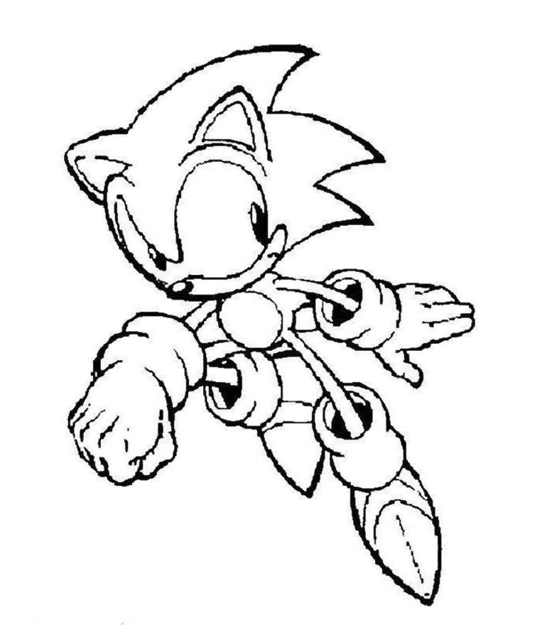 video game dark sonic Colouring Pages