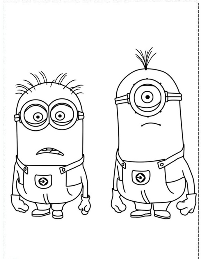 The Stuart Girl Despicable Me 2 Coloring Pages