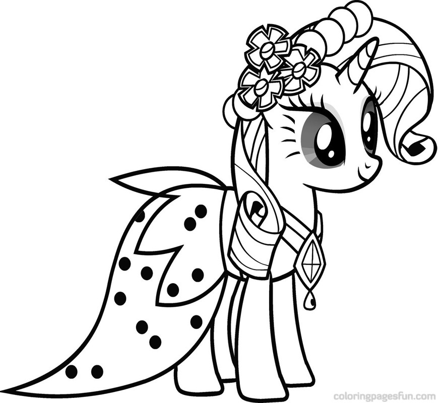 My Little Pony Coloring Pages Baby Rarity : Free coloring pages of coloriage rarity