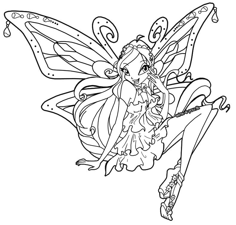 Coloriage Winx · The darkness purple