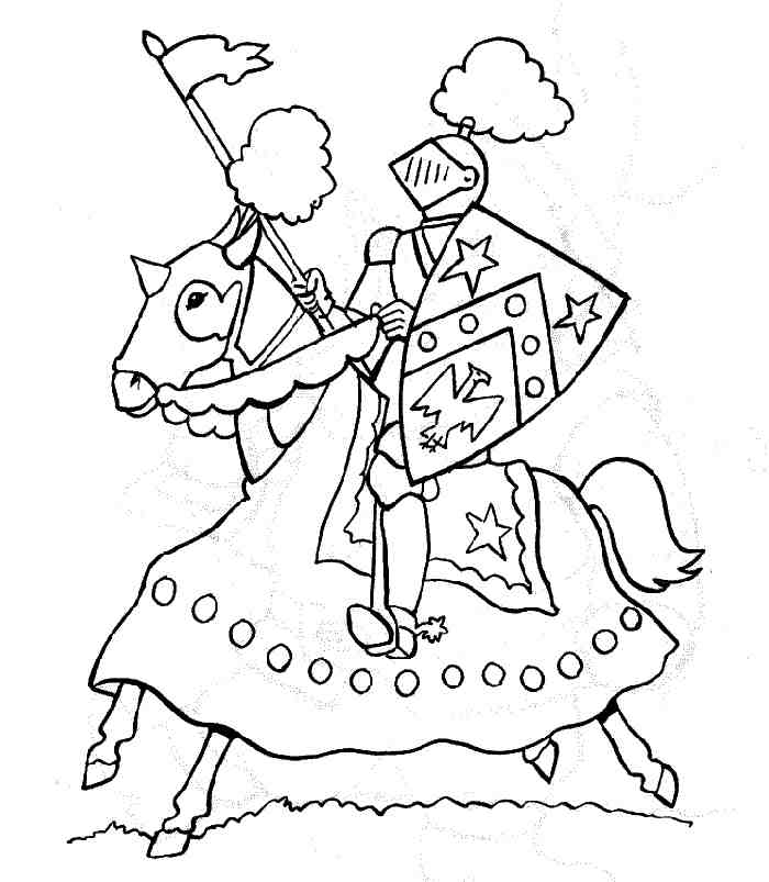 Dessin De Chevalier | Kids Coloriage