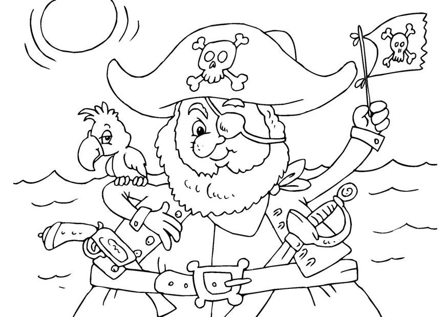 Coloriage pirate - img 25975
