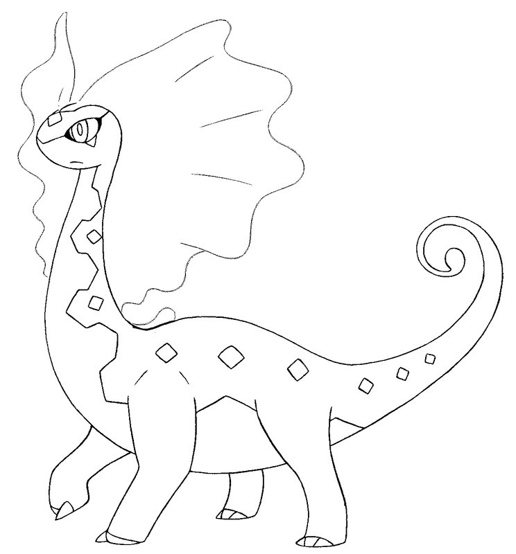 Coloriage Pokemon X et Y : Dragmara 1