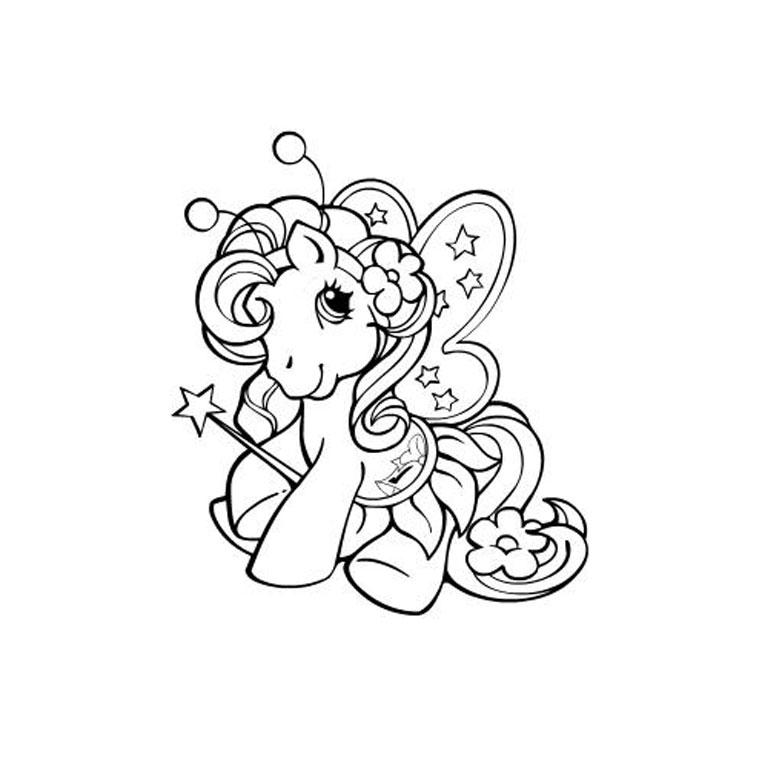 coloriage petit poney princesse a imprimer gratuit