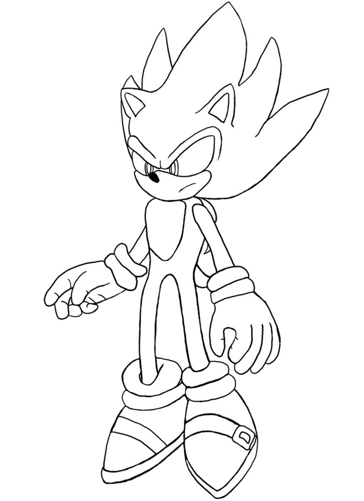 Sonic the Hedgehog's Site - Coloriage a imprimer
