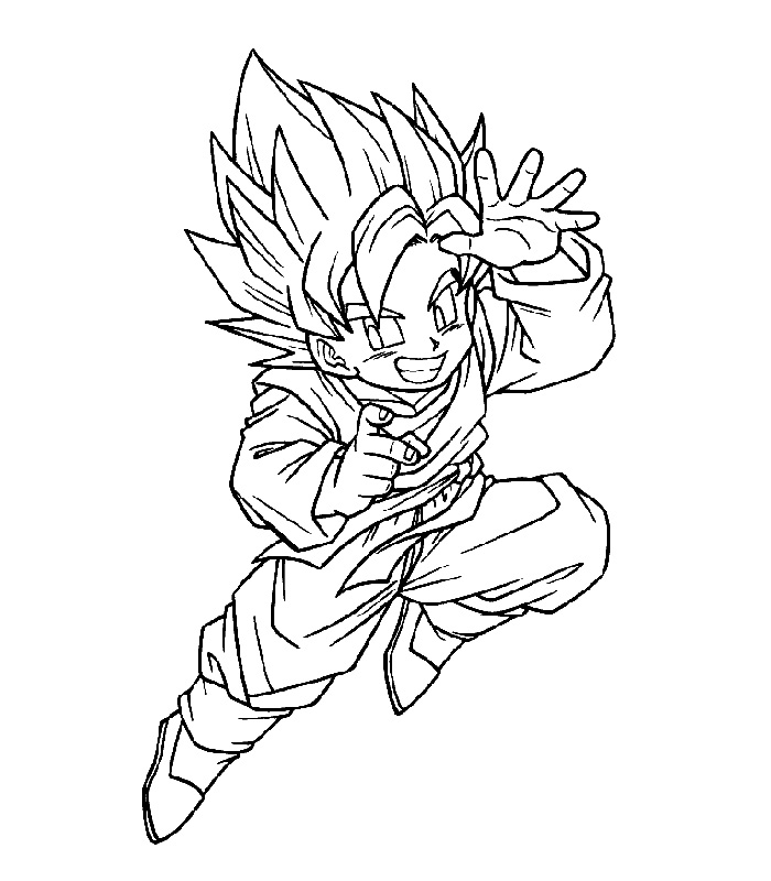 Video Games 2003 - Coloriages Dbz