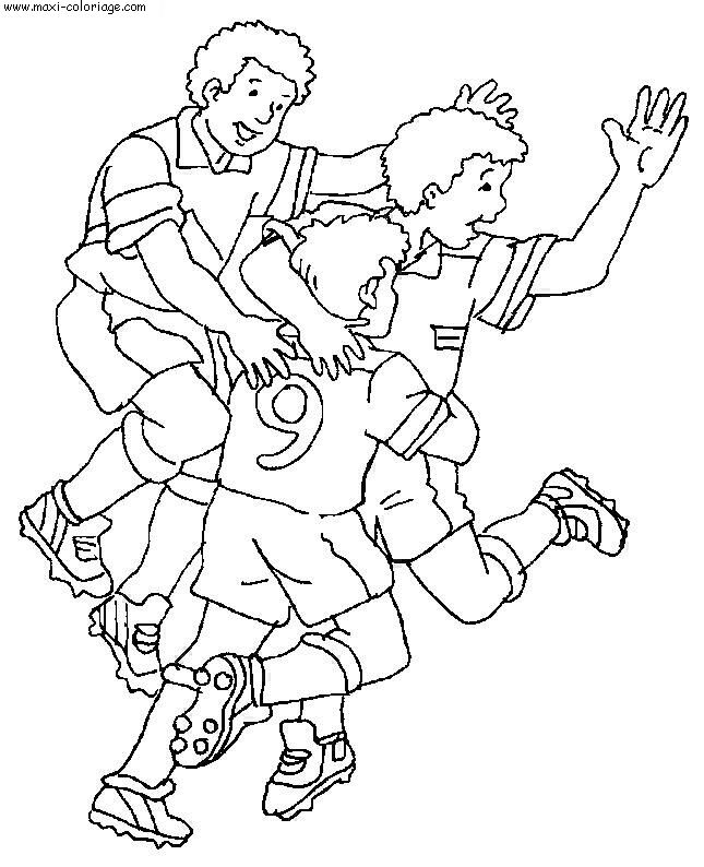 coloriage football, dessin football, football Coloriage N