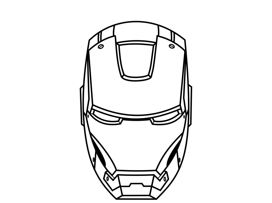 Gallery For Iron Man Face Template Iron Man Mask Coloring | My ...