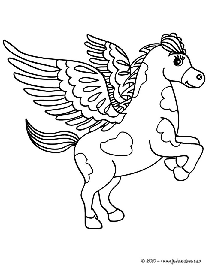 Coloriages CHEVAL - Mustang