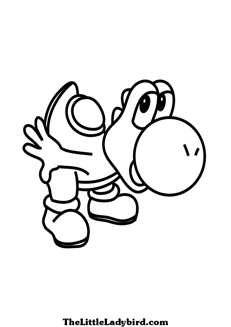 te Yoshi Colouring Pages (page 2)