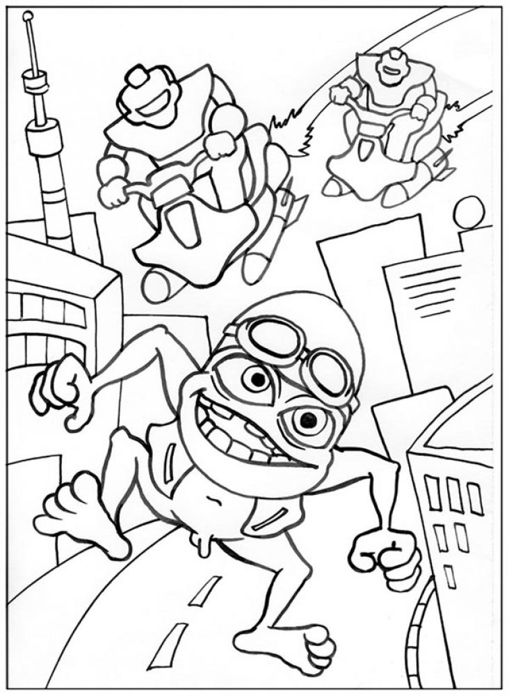 crazy frog coloring pages - frog coloring pages about coloring pages
