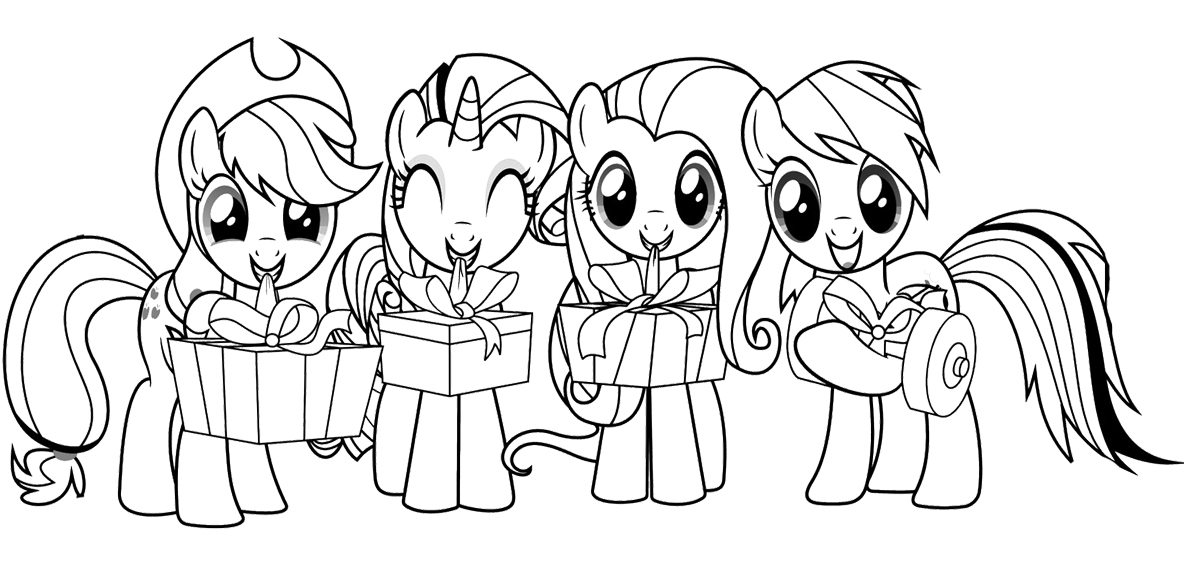 My Little Pony With Friends Coloring Page : KidsyColoring | Free