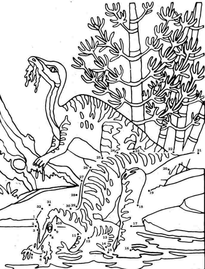 Primal Carnage Oviraptor Coloring Page Sketch Coloring Page
