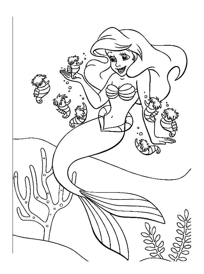 disney ariel Coloriage