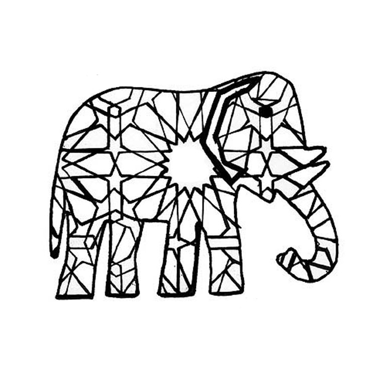 Coloriage Elephant Az Coloriage