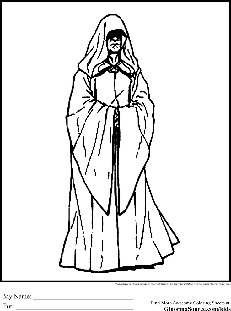 Star wars padme coloring pages