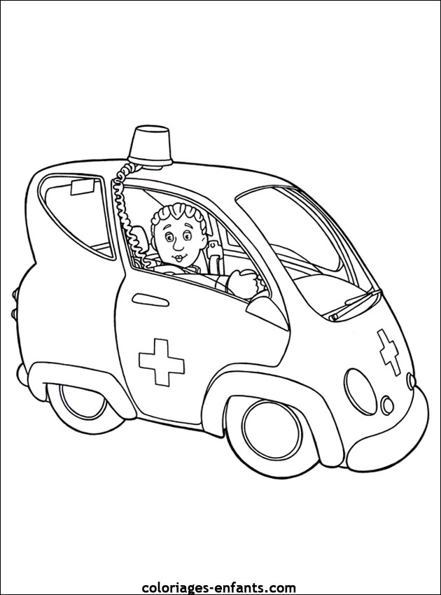ambulancier Coloriage