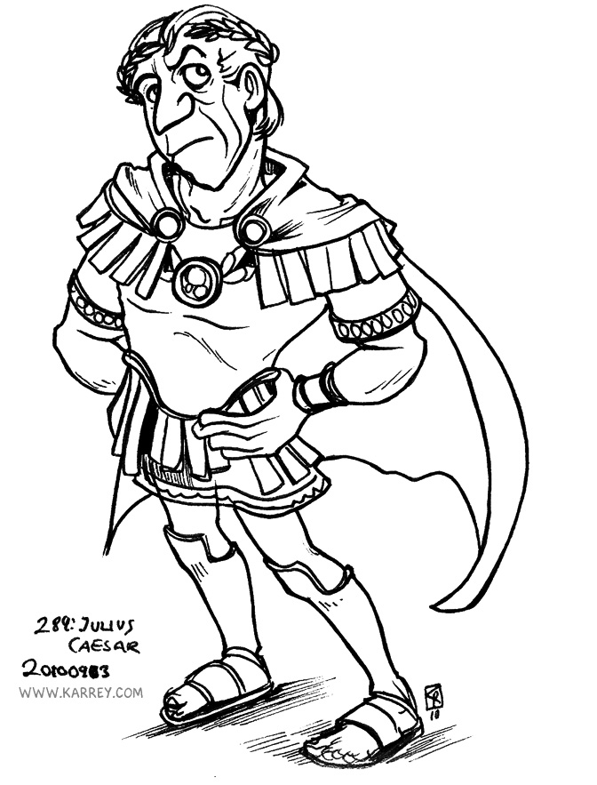 Caesar Drawing Little Caesars Colouring Pages