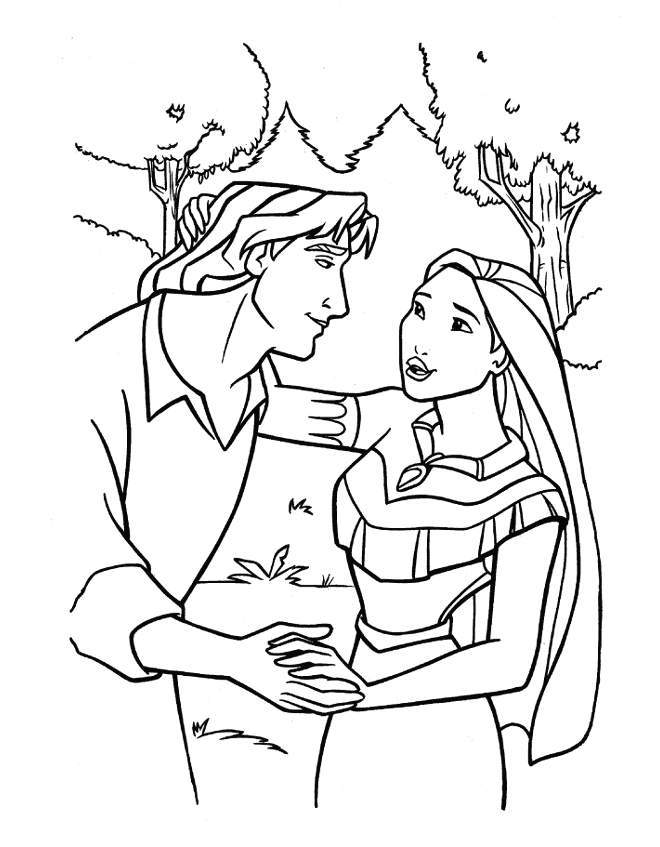 Disney Pocahontas Coloring Pages #48 | Disney Coloring Pages
