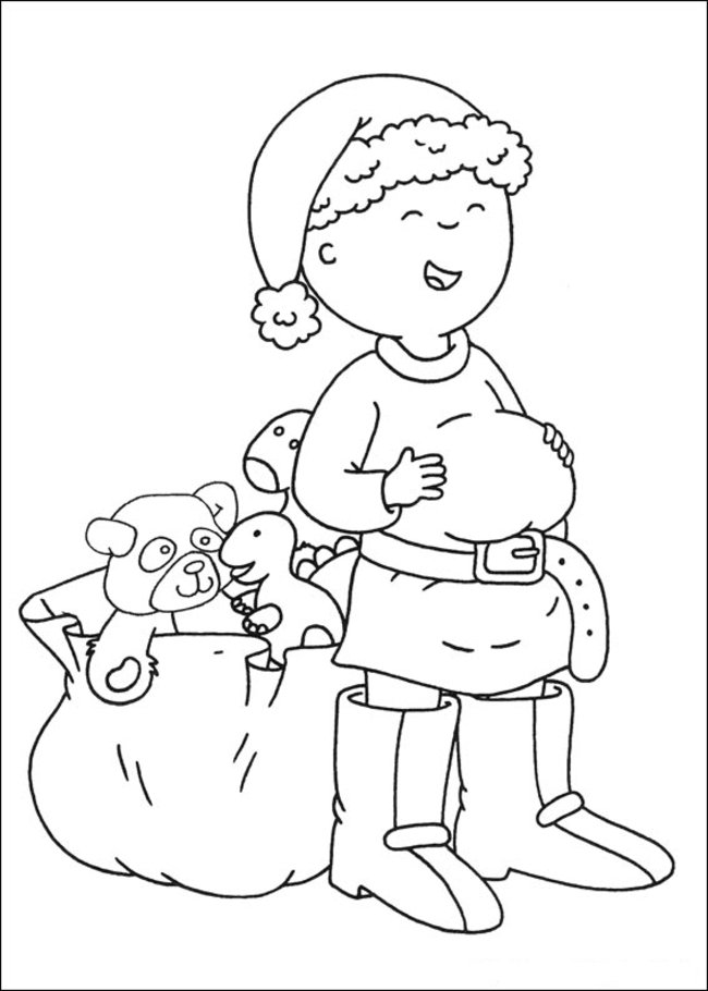 Caillou Summertime Colouring Pages Az Coloriage