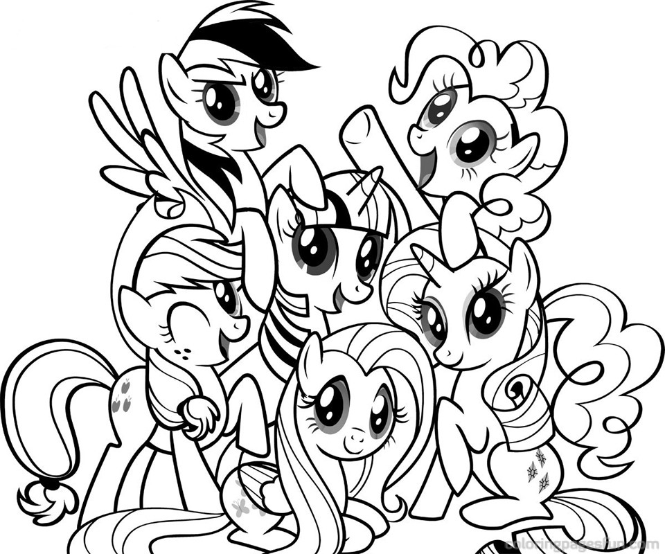 My Little Pony Coloring Page | Coloring Pages