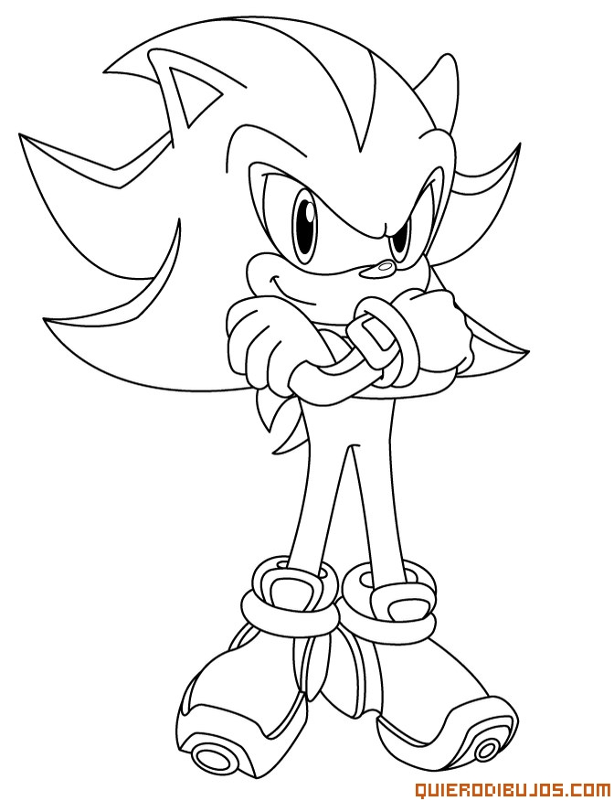 super sonic para colorear Colouring Pages