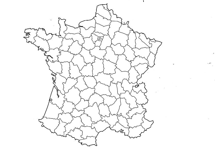 carte de france a colorier en ligne