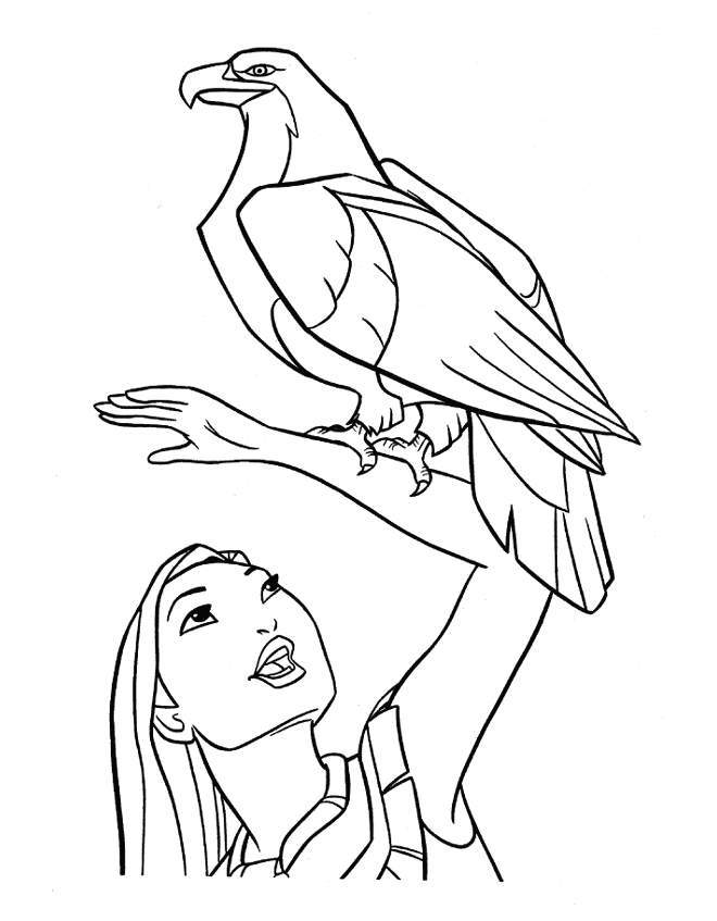 Disney Pocahontas Princess Coloring Pages | Disney Coloring Pages