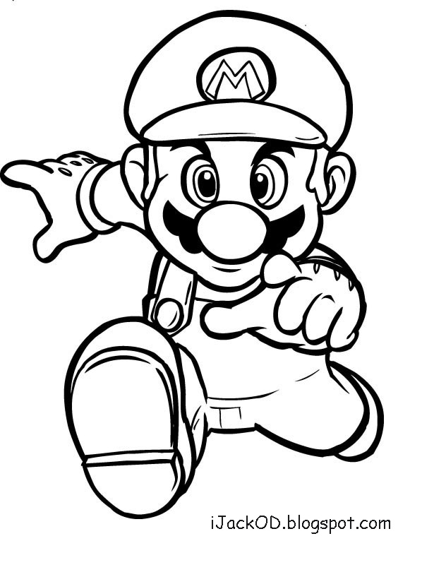 iJack O D Colouring Pages: Mario Colouring Pages