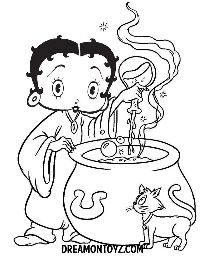 Free Printable Betty Boop Coloring Pages For Kids | 820x670