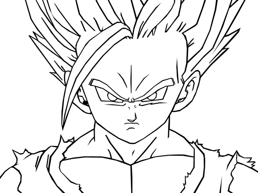 coloriage de vegeta Coloriage