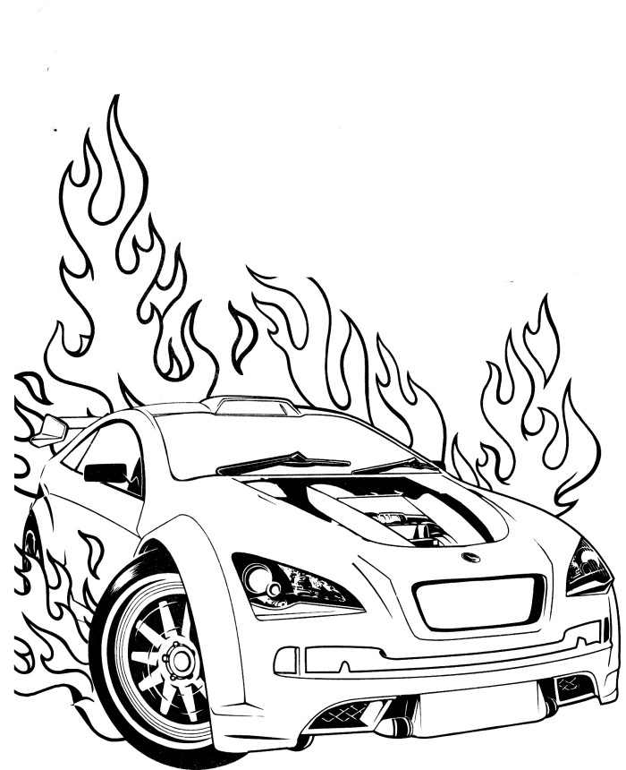 Hot Wheels Super Speed Coloring Pages Hot Wheels Coloring