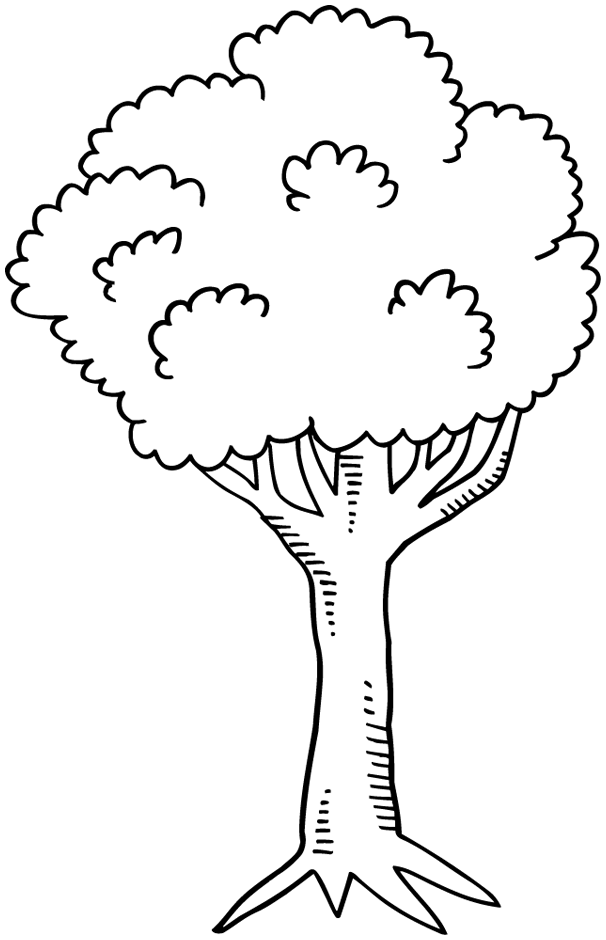 Coloriage : un arbre - Dory, coloriages