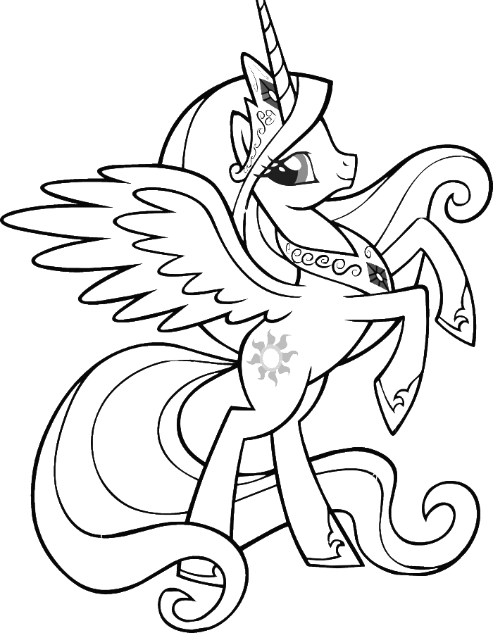 Smile Of Twilight Sparkle My Little Pony Coloring Pages - My