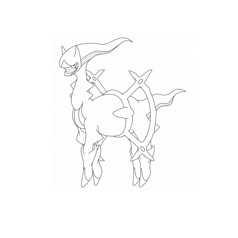pokemon arceus Coloriage