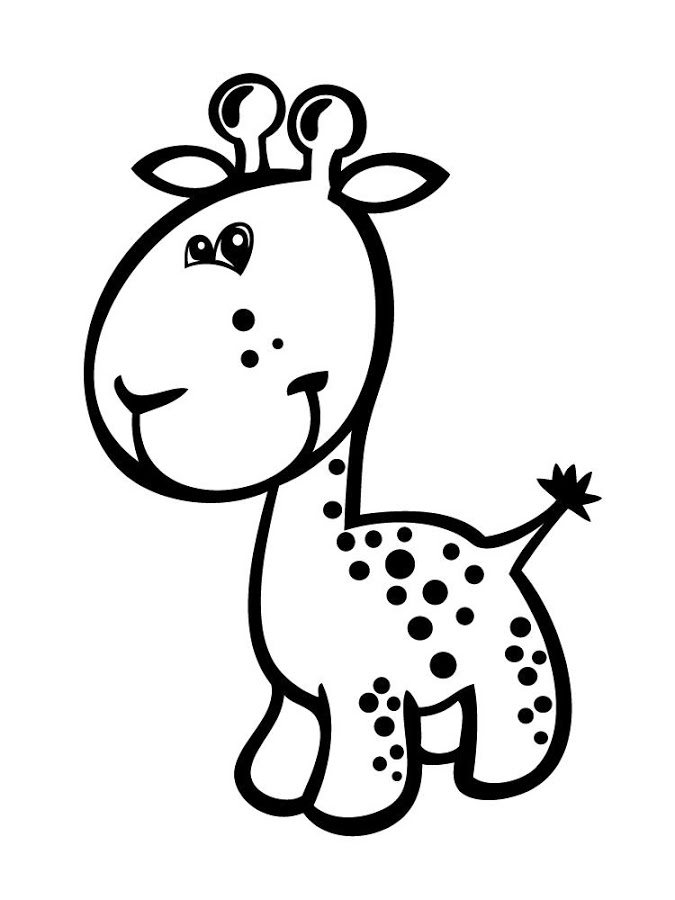 Cute coloring pages of baby giraffes